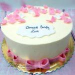 tort na chrzest z drobną dekoracją