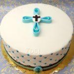 z niebieskim krzyżem