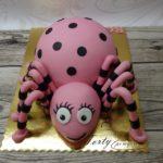 tort różowy pająk