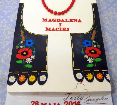 tort weselny w kamizelce krakowskiej