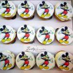 muffinki z wydrukiem Miki