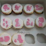 muffinki na różowe Baby Shower