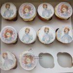 muffinki z wydrukiem Księżniczka Zosia
