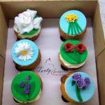 muffinki z kwiatami