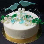weselny z ptaszkami