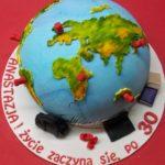 tort dla podróżniczki na 30 urodziny