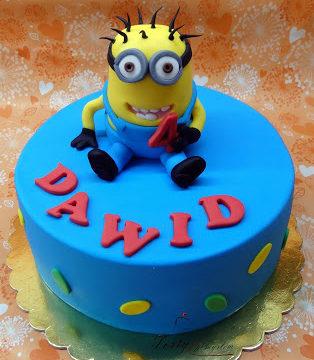 tort z minionkiem dla Dawida