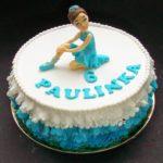 tort z niebieska baletnicą