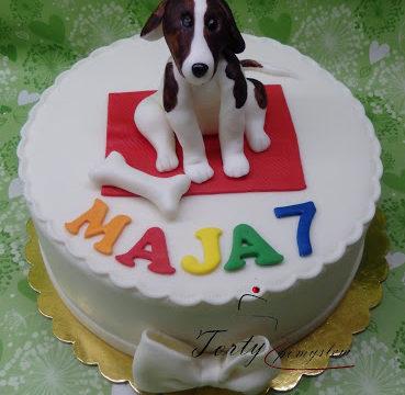 tort z pieskiem dla Mai