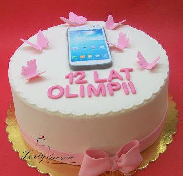 tort ze smartfonem dla Olimpii