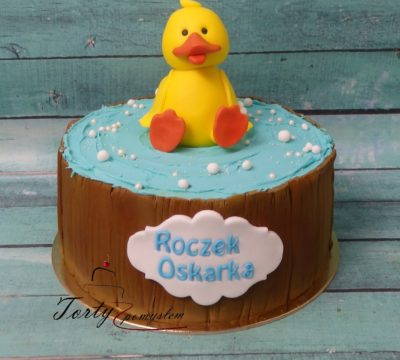 tort z kaczką w kąpieli