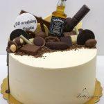 tort drip z butelką Jack Daniels dla faceta